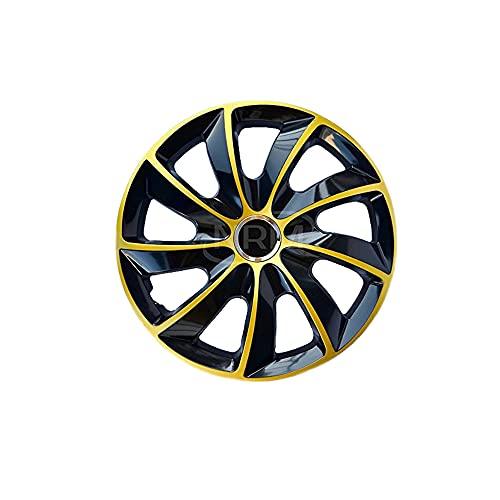 4x Enjoliveurs de roues en or noir 15' STIG de NRM | Enjoliveurs de roues en or noir 15 pouces, Jeu de 4 enjoliveurs