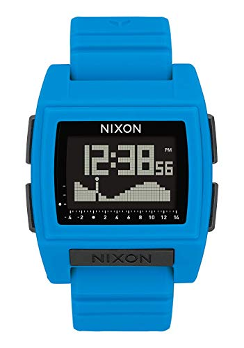 NIXON Base Tide Pro A1212 - Blue - 100m Water Resistant Men's Digital Surf Watch (42mm Watch Face, 24mm Pu/Rubber/Silicone Band)