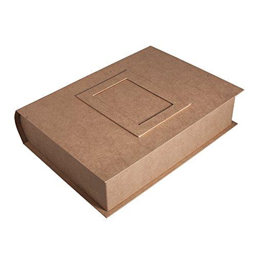 Rayher kartonnen maché Box Memories 34x27x8cm, met fotolijst en ringmechanisme, naturel, 34 x 26,5 x 8 cm