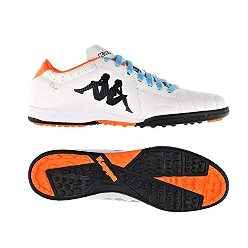 Kappa Player Tg Base - Scarpe da calcio da uomo, Arancione (White Orange Fluo.), 46 EU