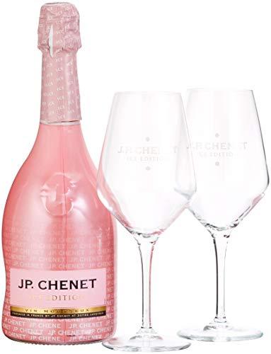 J.P. Chenet Ice Edition Rosé Halbtrocken Geschenkset mit 2 Gläsern (1 x 0.75 l)