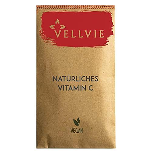 VELLVIE - Cápsulas de vitamina C natural sin residuos y sin plástico | 155 unidades de vitamina C de cereza de Acerola vegana sostenible | Paquete de recambio