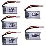 OUYBO Original 3.7V 260mAh batería de Lipo batería y cargador USB for H8 H48 RC Quadcopter parte drone H8 Mini 751732 3.7V 25C de la batería Accesorios de batería de piezas RC (Color : Burgundy)