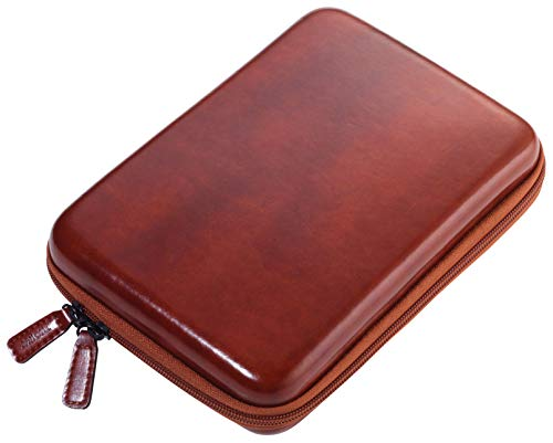 Troika Brown Travel Case – CBO25/BR – Organizer etui met ritssluiting – Elektronische accessoires, kabeltas – 3 binnenvakken – 6 elastieklussen – scheidingswand (binnen) – Troika Original