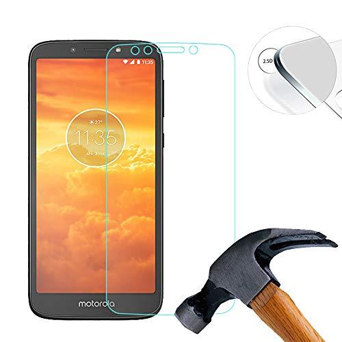 Lusee 2 Stück Schutzfolie für Motorola Moto E5 Play GO 5.3 [9H Festigkeit] Bildschirmschutzfolie HD Schutzfolie [Anti Kratzer] [Anti Fingerabdruck] 2.5D Panzerfolie für Motorola Moto E5 Play GO 5.3