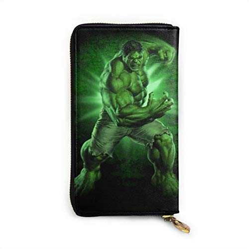 Hdadwy Hulk Wallet RFID Blocking Genuine Leather ZipAround Wallets Purse Travel Purse Around Card Holder Organizer Clutch Bag