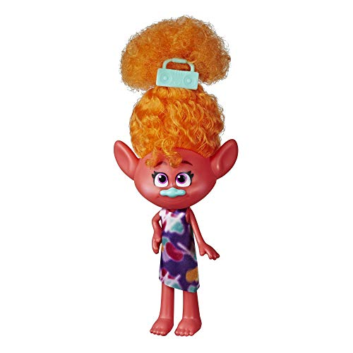 Trolls DreamWorks Stylin' DJ Suki Fashion Doll with Removable Dress and Hair Accessory, Inspired World Tour, Girls 4 Years and Up