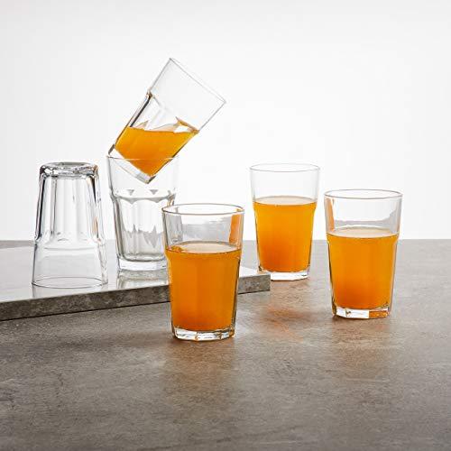 Home Centre Medleys Stackable Water Glasses- Set of 6 - Transparent