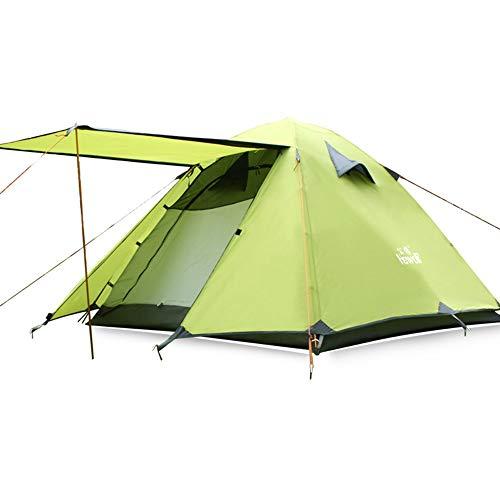 JOMSK Mochila Tienda de campaña Plegable con la Huella Camping Cúpula Tienda Tiendas Portable Impermeable Carpa Familiar (Color : Green, Size : One Size)