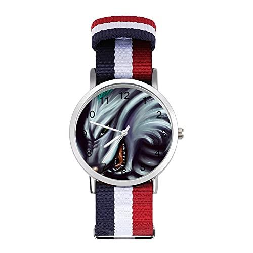 Spirited AwayBraided Reloj de banda con escala de moda ajustable para negocios, banda de impresión a color, adecuado tanto para hombres como para mujeres
