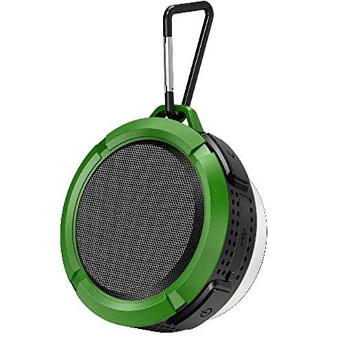 WUBAILI Hanging Bluetooth Speaker,Waterproof Bathroom Wall Hanging Outdoor Bluetooth Speaker,3D Stereo, Bluetooth 4.2,6 Hours Playback,Green