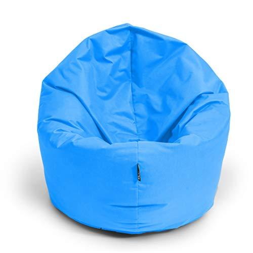 BuBiBag Sitzsack 2 in 1 Funktion Sitzkissen mit EPS Styroporfüllung 32 Farben Bodenkissen Kissen Sessel Sofa (100cm, Königsblau)