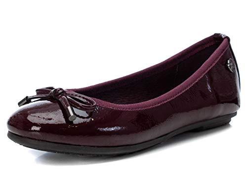XTI - Zapato Bailarina para Niña - Color Burdeos - Talla 33