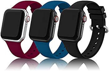3-Pack Edimens Sports Silicone Bands for 38mm/40mm Apple Watch