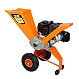 SPEED FORCE Wood Chipper Shredder 6.5 HP 208cc Gas Powered Wood Chipper Heavy Duty Wood Chipper EPA/CARB Certified for Fire Prevention/Building Firebreaks