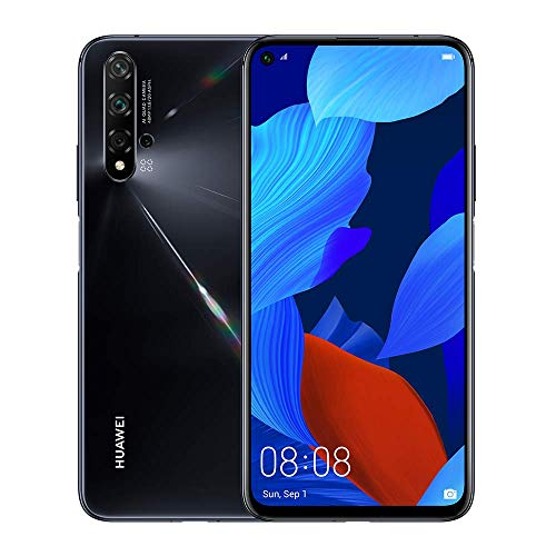 Huawei Nova 5T (128GB, 8GB) 6.26' LCD, Kirin 980, 48MP Quad Camera, 22.5W Fast Charge, Dual SIM GSM Unlocked Global 4G LTE International Model YAL-L21 (Black)