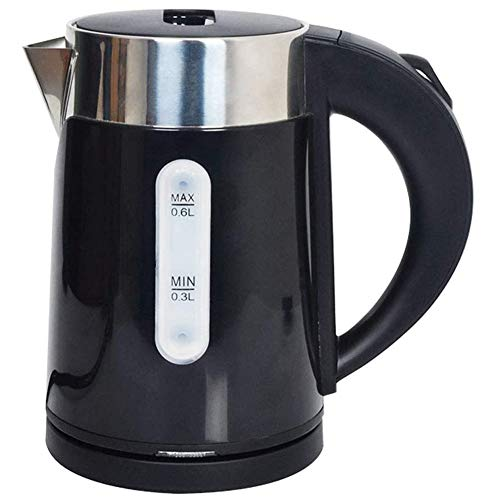 Electric Kettle Double Wall, Food Grade 304 Stainless Steel, Cordless Kettle, Auto Shut-Off, Boil Dry Protection, LED Indicator, 0.6L, 1000W