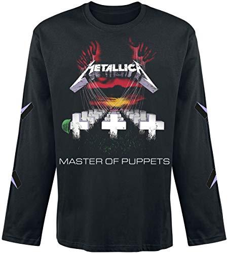 Metallica Master of Puppets Langarmshirt schwarz S