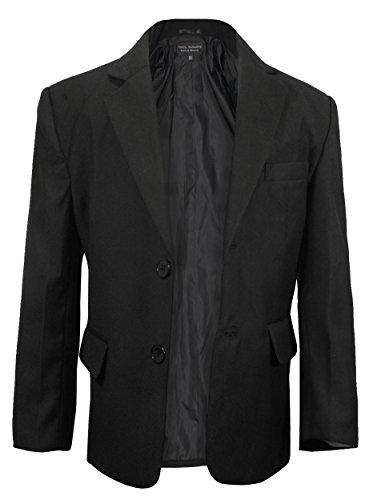 Paul Malone Jungen Anzugjacke Sakko Blazer schwarz - Kinder Anzug Jacke für Jungs 128-134 (8 Jahre)