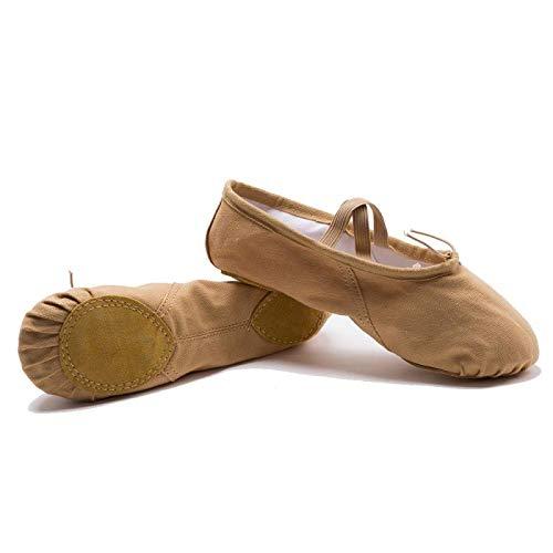 Zapatos de Baile de Fondo Suave Color Camel Femenino nuevos niños Adultos Zapatos de práctica Zapatos de Ballet para Estudiantes-A1_37