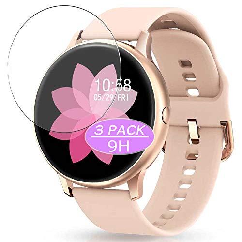 VacFun 3 Piezas Vidrio Templado Protector de Pantalla, compatible con YAMAY sw022 1.28' Smartwatch Smart Watch, 9H Cristal Screen Protector Protectora Reloj Inteligente