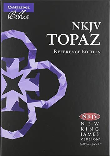 NKJV Topaz Reference Edition, Black Goatskin Leather, NK676:XRL