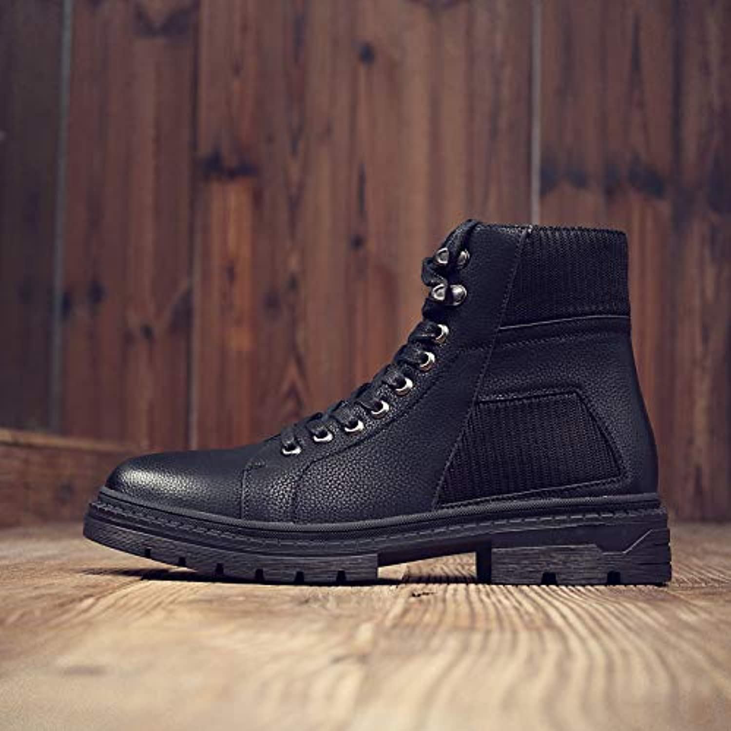ZyuQ Ankle boots Martin Boots Men'S Autumn And Winter Boots, Men'S Boots, Boots, Black Boots