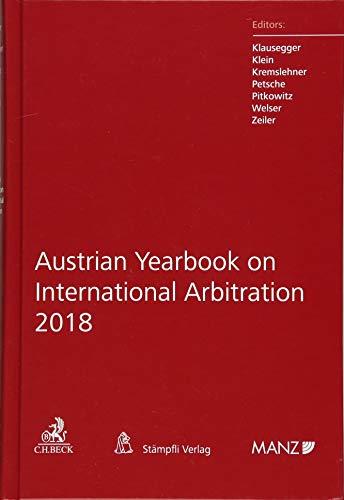 Austrian Yearbook on International Arbitration 2018