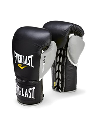 Everlast PowerLock Pro Fight Gloves 10oz blk/Gry PowerLock Pro Fight Gloves