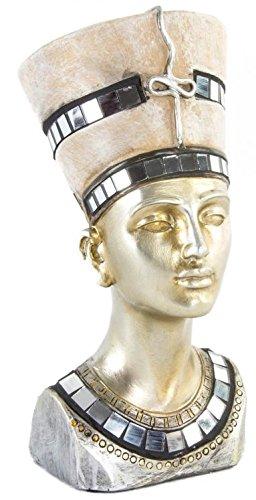 AVENUELAFAYETTE Figurine - Statuette - Buste Reine d'Egypte Néfertiti Couleur Or - 17 cm