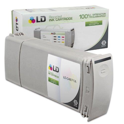 LD - Cartucho de tinta remanufacturado para HP 80 C4871A (negro)