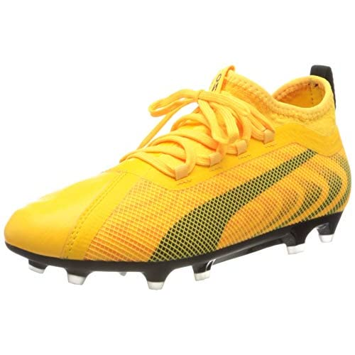 PUMA One 20.2 FG/AG JR, Scarpe da Calcio Unisex-Bambini, Giallo (Ultra Yellow Black/Orange Alert), 37 EU