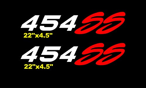 454 ss Side Bed Decals Stickers Chevy Silverado Bed Graphics Vinyl Numbers