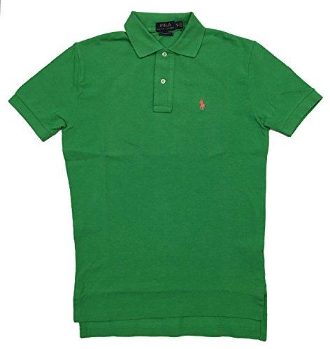 Ralph Lauren Herren Poloshirt Custom Fit Stretch Kurzarm, Grün S