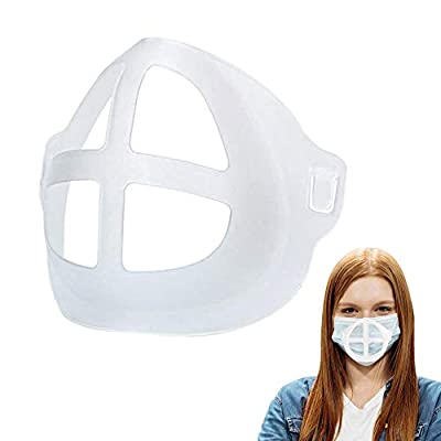DELNA Face Mask Bracket - 5Pcs Silicone Face Bracket for Mask | Reusable and Breathable Mask Lipstick Protector That's Easy Wash to Keep Sanitized and Safe- Fits All Ages from Delna