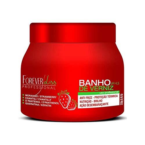 Forever Liss Banho de Verniz Masque réparateur pour cheveux Fraise D Pantenol 250 g