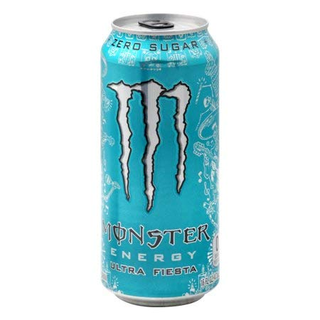 Monster Energy Ultra Zero Sugar Energy Drinks 16 ounce cans (Ultra Fiesta, 12 Cans)