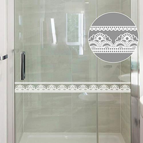 Pegatina de espejo de encaje, 10 x 1000 cm, para decoración