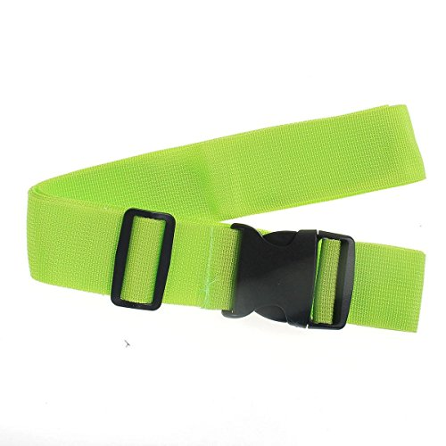 CNBDYODY LXIG45 Outside 185x5CM Adjustable Suitcase Luggage Strap Travel Baggage Tie Gloomy Belt Lock Multifunction (Color : Green)