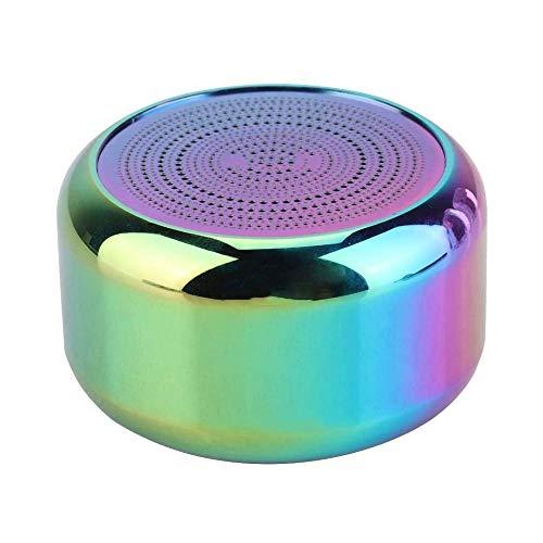 LKNJLL Mini Altavoz - Box 3D estéreo de Altavoces de Sonido USB Micro magnética Metal del Cuerno al Aire Libre inalámbrica Bluetooth 4.2 Altavoz