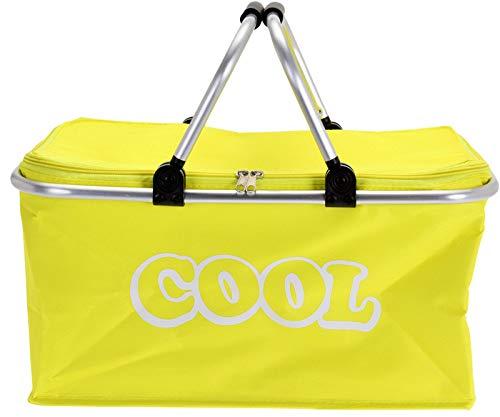 matrasa Kühltasche - Einkaufstasche - Einkaufskorb - Picknick Korb Kühlkorb Kühlbox 35 L gelb