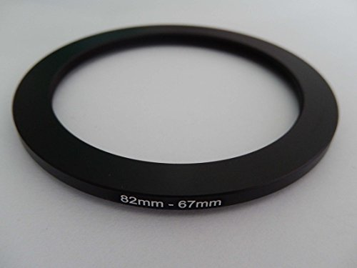 vhbw Step Down Filter Adapter 82mm 67mm Ring Adapter Black for Camera Lens Sony FE 24-70mm F2.8GM (SEL2470GM)