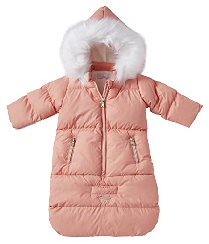 Cremson Girls Boys Newborn Infant Baby Puffer Carbag Pram Bag Snowsuit Bunting Mauve Pink