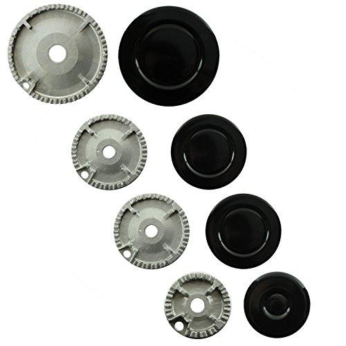 Spares2go grabadora de Gas diseño de corona de fuego tapa para Ikea para horno de cocina (tamaño pequeño, 2 medio y tamaño grande)