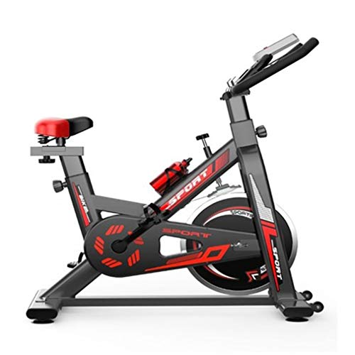 Keumer Bicicleta De Ejercicios De Interior, Soportar Peso 150KG Bicicleta Estática Profesional, Estructura De Doble Triángulo Estable Y Seguro, Equipo De Entrenamiento De Resistencia