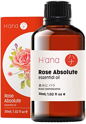 Ätherisches Rosen Öl (30ml) - 100% rein und zur therapeutischen Anwendung, zur Behandlung von Haut und Haaren,und für den Aroma Diffusor