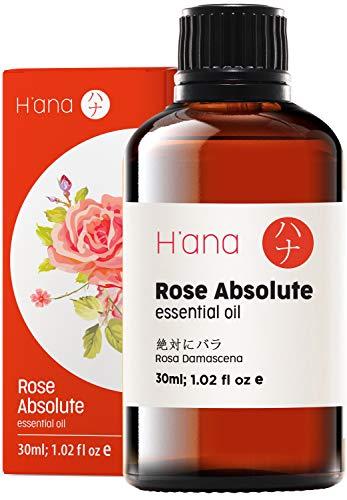 Ätherisches Rosen Öl (30ml) - 100% rein und zur therapeutischen Anwendung, zur Behandlung von Haut...