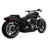 Vance & Hines 46880 Black Mini-Grenades Exhaust System for 2018-Newer Harley M8 Softail Breakout, Fat Boy, FXDR Models