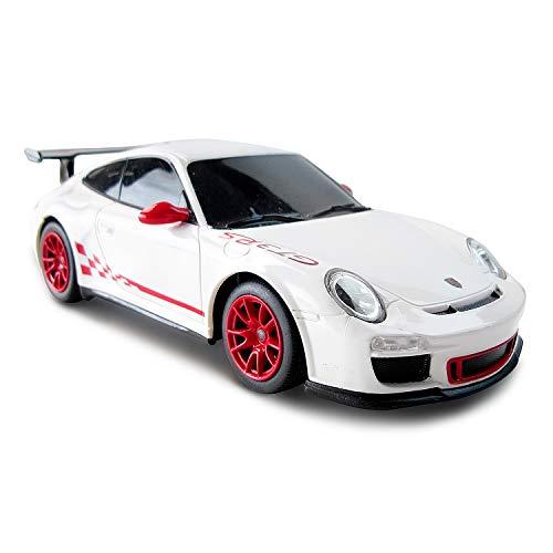 CMJ RC Cars ™ Porsche 911 Offiziell lizenziertes ferngesteuertes Auto im Maßstab 1:24 Arbeitsscheinwerfer 2,4 GHz Weiß