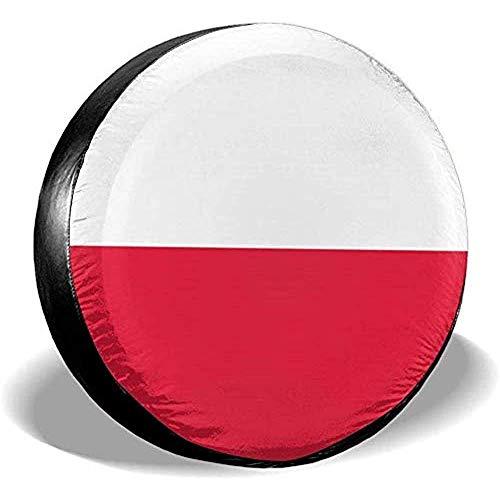 Beth-D Polen-Flagge, wasserdicht, Ersatzreifen-Abdeckung, passend für Anhänger, Wohnmobil, SUV, LKW, Reiseanhänger, Zubehör 35,6-43,2 cm